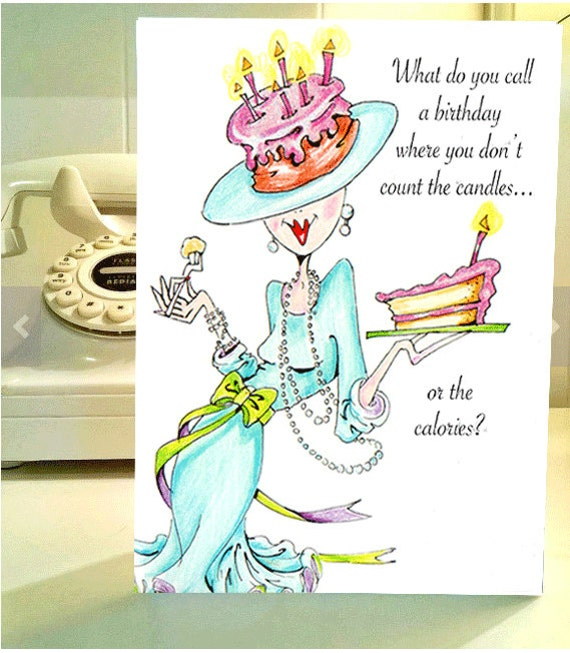 Funny birthday card funny women humor greeting cards for her like this item bookmarktalkfo Images