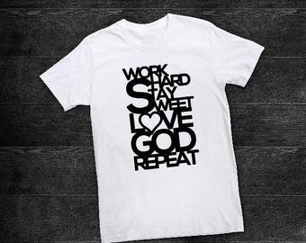 Work Hard Love God Tee