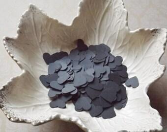 Black Paper Heart Confetti-500 Pieces-Weddings, Showers, Birthdays