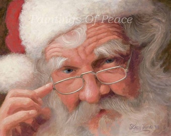 Santa - Santa Claus- 11 x 14 canvas on board giclee