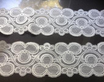 Wide vintage lace, white