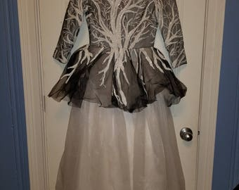 Full-length hand-made gown