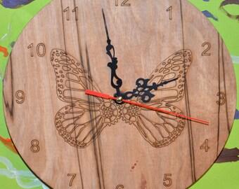 Steampunk Butterfly Clock