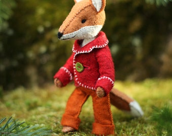 6Felix the Fox PDF pattern, Felt fox ornament, Felt Animal - Fox sewing pattern, hand-sewing, beginner sewing, DIY sewing, fantastic fox