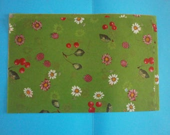 leaves decopatch by three flowers and fruits