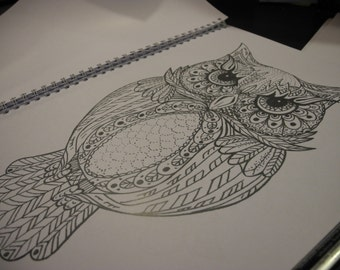 owl colouring page