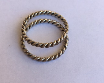 Silver Colored Rings