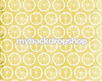 8ft x 8ft Lemonade Photography Prop - Lemon Photo Backdrop - Distressed Yellow floor Drop - Photo Prop for Children - Item 3127