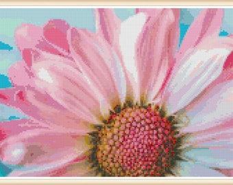 Flower Cross Stitch Pattern - Floral Cross Stitch - PDF Download