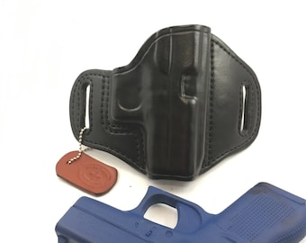 Glock 42 (zero cant) * Ready to Ship * - Handcrafted Leather Pistol Holster