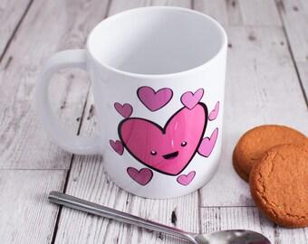 Love Hearts Mug - Valentines Day Gift - Coffee Mug - Gift for Her - Gift for Him - Coffee Lover Gift - Tea Lover Gift