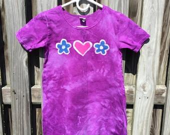 Purple Girls Dress, Flower Girls Dress, Batik Girls Dress, Girls Purple Dress, Girls Flower Dress, Purple Flower Dress (8)