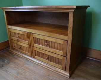 Handmade Maple Wood Dresser, Changing Table, Bedroom Furniture, Four Drawer Dresser, Long Dresser