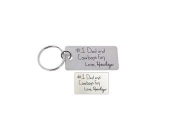 Fathers Day, Handwriting Keychain, Anniversary Gifts, Memorial Gifts, Gifts for Him, Gifts for Father, Gifts for Dad, Gifts for Step Dad