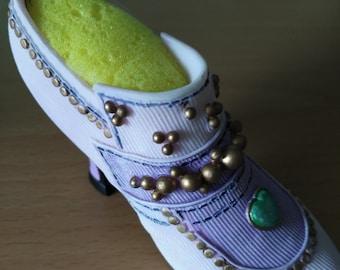 Victorian Shoe Pin Cushion.  Novelty.