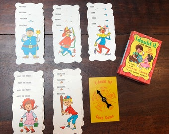 Vintage I Doubt It Card Game with Spinner