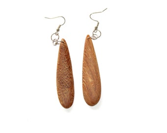 3 Pairs of Wood Earrings, Unfinished Wood Earrings, Wood Jewelry, Ecofriendly Jewelry, Craft Supply