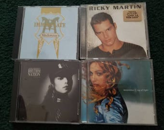 Lot of Four 4 Dance POP CD's 1990's. 2 Madonna - Janet Jackson - Ricky Martin