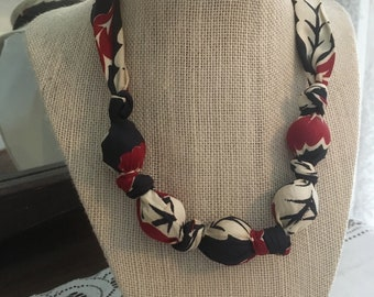 Upcycled Necktie Necklace