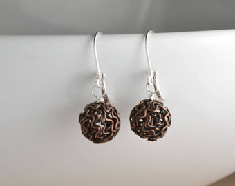 Minimalist jewlery, modern and fun, leverback earrings, unique gifts, for her, copper, gunmetal, brass, for a good cause