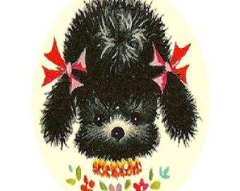 Vintage Baby Poodle Cross Stitch Pattern PDF