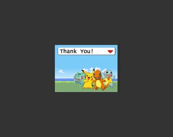 Pokemon Themed Thank You Cards