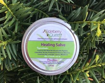 Healing Salve/Herbal Salve/Healing Balm/Hand Salve/Calendula/Burn/Skin Treatment/Dry Skin/Eczema/All Purpose