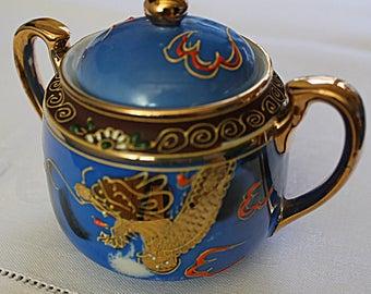 Japanese Porcelain Sugar Bowl Hand painted