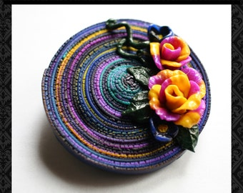 Polymer clay brooches - Gift for her - Handmade jewelry- women's fashion - Brooches in handmade - Unique broches