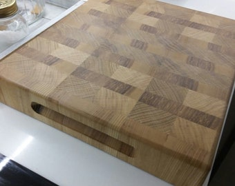 Chopping board in oak and ash endgrain cuttingboard Oak ash Tree