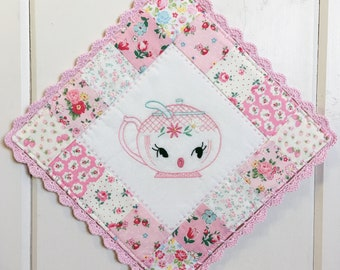 custom/recreate a sweet sugar bowl embroidered pot holder