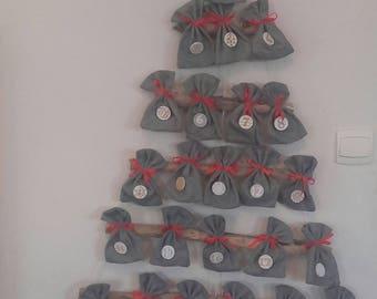 XL Christmas tree shaped advent calendar