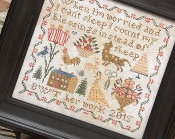 Instead of Sheep : Cross Stitch Pattern by Heartstring Samplery