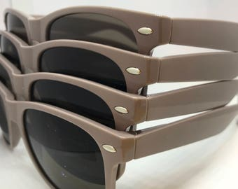 Personalized Brown/Taupe Sunglasses for Wedding/Groom's Party/Bachelore Weekend