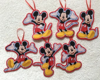 Mickey Mouse Christmas Ornaments-Set of 6