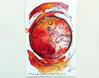 Little World - Red Planet Swirls