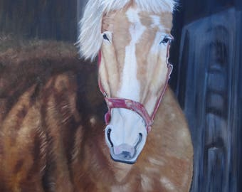 Horse at Landis Valley: Print of an Original Oil Painting