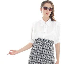 Women's Skirts. Vintage Skirt. 1970 Skirt .Plaid Skirt. 70's Skirts.Vintage Skirt For Women 1970's.Size L-XL