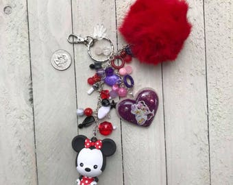 Minnie Mouse Inspired Purse Charm