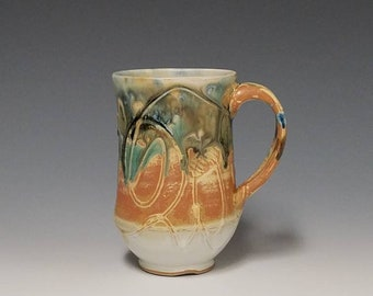 Handmade wheel thrown ceramic mug #1145