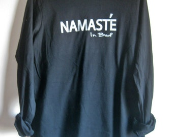 Namaste in bed Long sleeve Shirt Women size S M L XL
