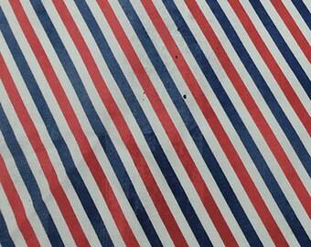 Postal Stripe - Correspondence - Tim Holtz - Red, Blue and White Bias Stripe
