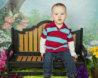 Park Bench childs wooden photography prop