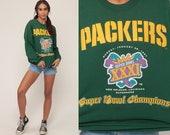 Football Sweatshirt GREEN BAY PACKERS 90s Sweatshirt Nfl Shirt 1997 Super Bowl Throwback Football Jumper Sports Vintage Extra Large xl