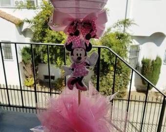 Centerpiece Inspired by Minnie Mouse Disney for Birthday, Baby Shower