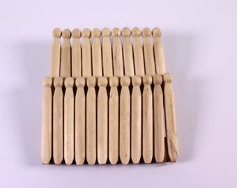 Wooden Dolly Pegs for Making Animals & People Pack of 12 Craft Pins