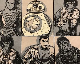 Star Wars Apron / The Force Awakens / Rey / Finn / BB-8 / BB8 / Last Jedi / Chewbacca / Poe / Star Wars fan / apron with star wars