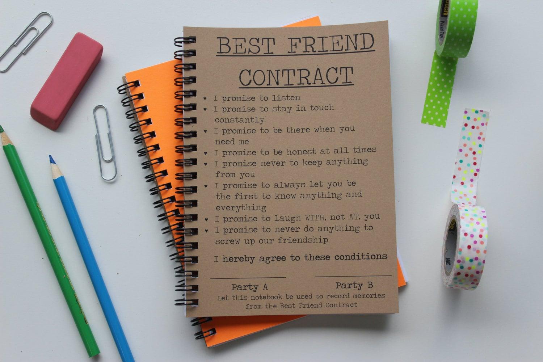 Best friend contract 5 x 7 journal description best friend contract thecheapjerseys Choice Image