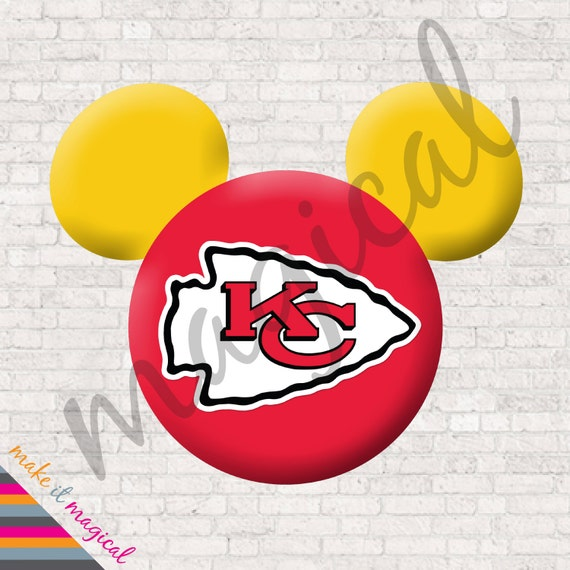Chiefs Mickey Mouse Head Digital Download Kansas City Chiefs Mickey