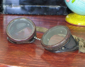 Antique Motorcycle Goggles